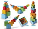 Dado Cubes FB024-MC Original Spatial Multi-Colored Building Blocks