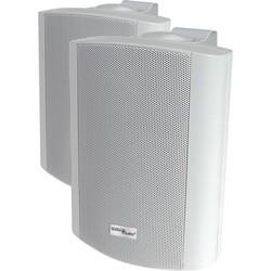 """Outdoor Speaker-White Pair = 2 8ohm 70V 8/"""" STELLAR LABS 50-14940 Indoor"""