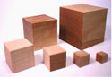 CC373CL-10 WOOD CRAFT BLOCKS 3/4 INCH (PACKED 10)