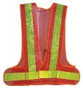 EP08L-O Illuminated Safety Vests: 16 RED LEDs