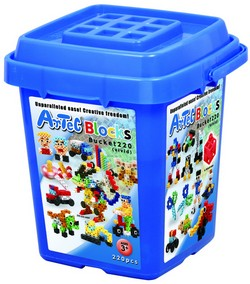 ARTEC EDUCATIONAL 152202 Bucket 220 (vivid) NEW INNOVATIVE SYLE BUILDING BLOCK SET