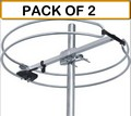 (PACK OF 2) Stellar Labs 30-2435 Outdoor Omnidirectional FM Antenna