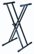 Stellar Labs 555-13812 Heavy-Duty Portable Keyboard Stand with Adjustable Height