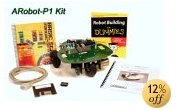 ARobot - Programmable Mobile Robot Kit w/ Basic Stamp and 2 Books by Arrick Robots (non-soldering)